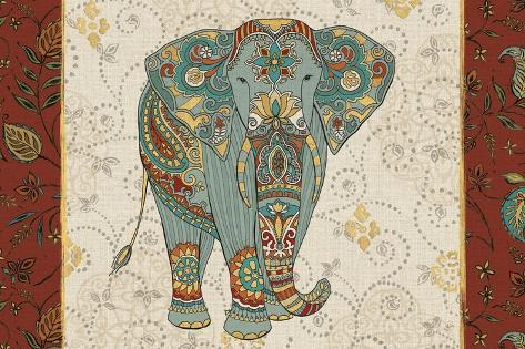 Elephant Caravan IA Art Print