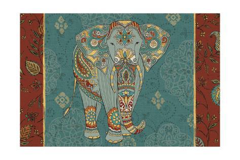 Elephant Caravan IB Art Print