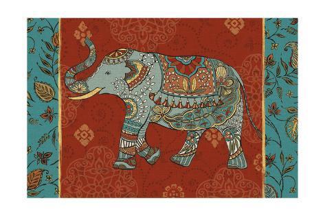 Elephant Caravan IIM Art Print