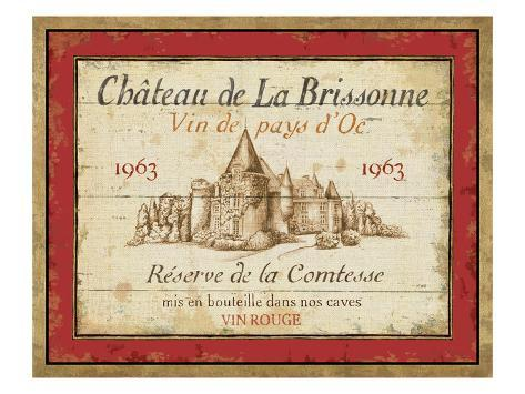 French Wine Labels I Premium Giclee Print