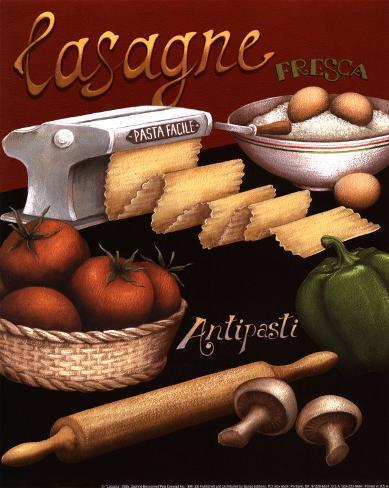 Lasagna Art Print