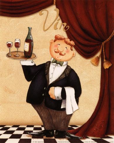 The Waiter, Vin Art Print