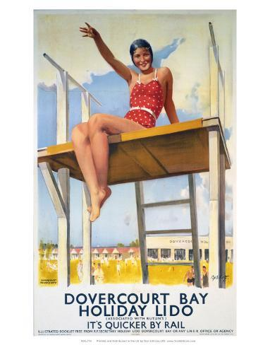 Dovercourt Bay, Holiday Lido, LNER, c.1941 Art Print