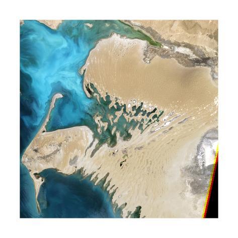 Dardzha Peninsula in the Caspian Sea, Turkemnistan Stretched Canvas Print
