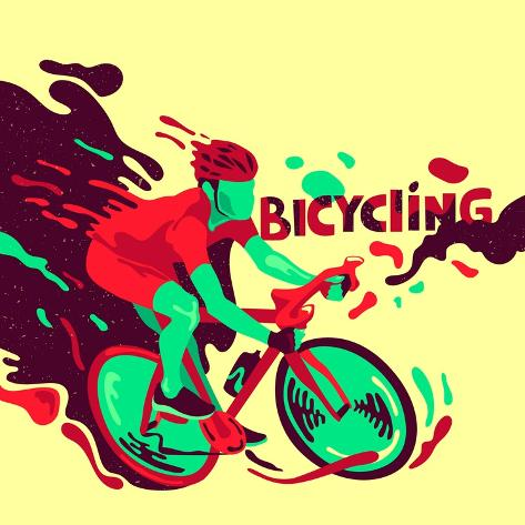 Bicycling. Healthy Lifestyle. Sports Poster Art Print