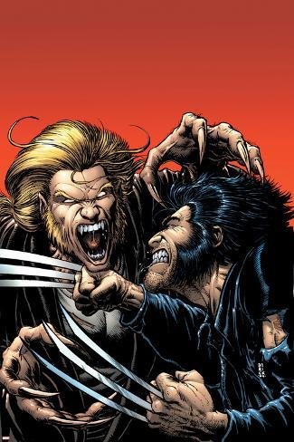 Wolverine No.15 Cover: Wolverine and Sabretooth Poster