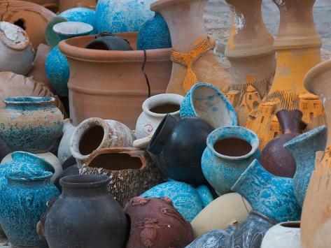 Pottery on the Street in Cappadoccia, Turkey Photographic Print