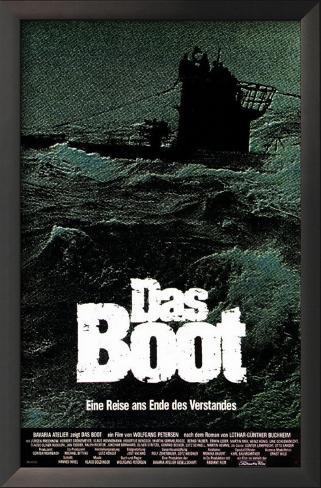 Das Boot Impressão artística emoldurada