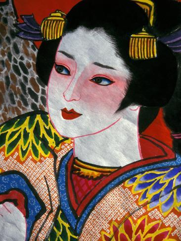 Geisha, Warrior Folk Art, Takamatsu, Shikoku, Japan Photographic Print
