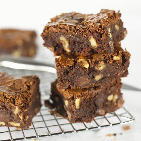 Brownies on Cake Rack Photographic Print