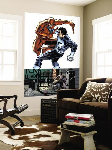 Daredevil Vs Punisher No.1 Cover: Daredevil and Punisher Wall Mural