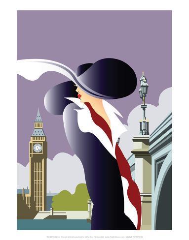 London Blank - Dave Thompson Contemporary Travel Print Art Print