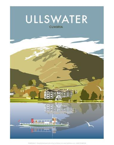 Ullswater - Dave Thompson Contemporary Travel Print Posters by Dave ...