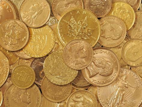 Gold Coins Photographic Print