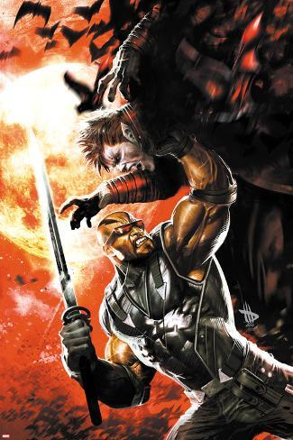 X-Men: Curse of The Mutants - Blade No.1 Cover: Blade Fighting with a Sword Poster