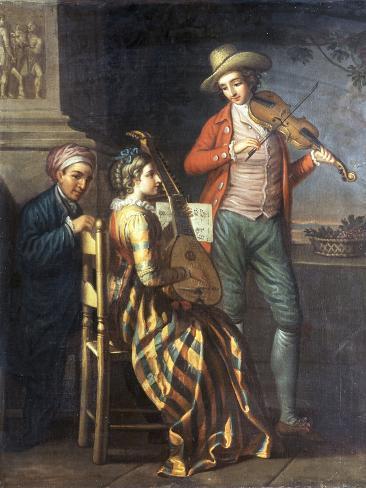 A Neapolitan Musical Party Giclee Print