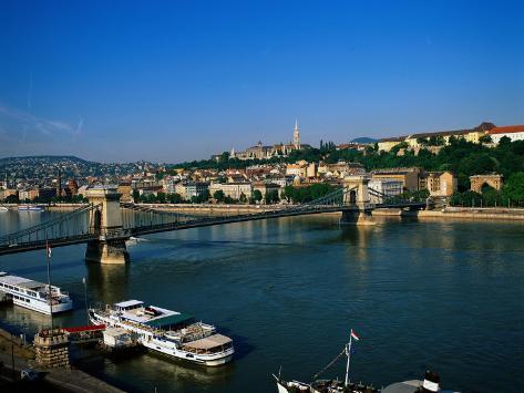 Danube, Budapest, Hungary Photographic Print