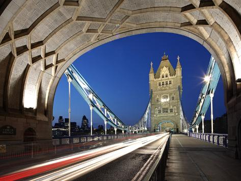 The Famous Tower Bridge over the River Thames in London Photographic Print