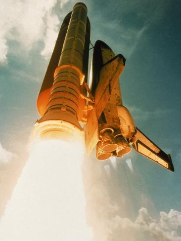 Space Shuttle Lifting Off Photographic Print
