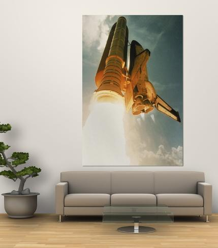 Space Shuttle Lifting Off Giant Art Print