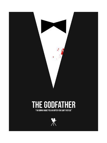 Filmposter uit The Godfather met Engels citaat Kunstdruk