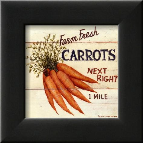 Farm Fresh Carrots Kehystetty taidevedos