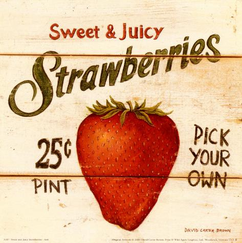 Sweet and Juicy Strawberries Framed Art Print