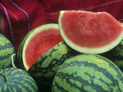 Seedless Watermelon, Deuce of Hearts Hybrid Triploid Variety Photographic Print