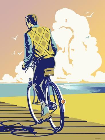 Beach Bike Giclee Print