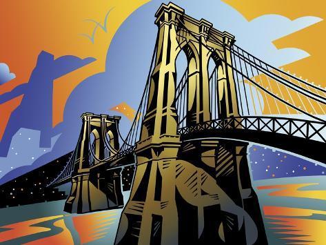 Brooklyn Bridge Giclee Print