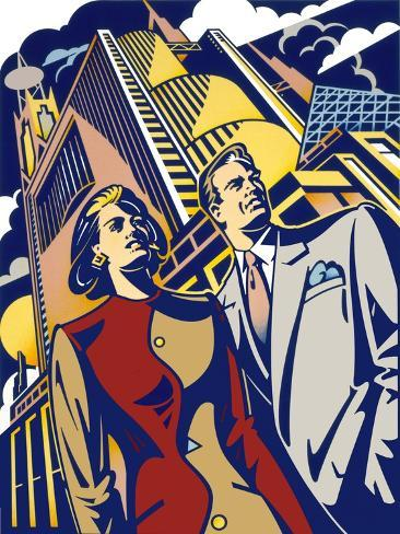 Business Couple Giclee Print