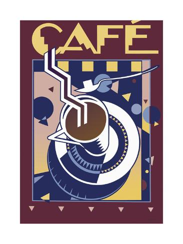 Café Giclee Print