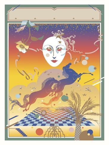 Fantasy Mask Giclee Print