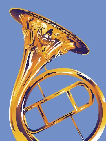 French Horn 8 Giclee Print
