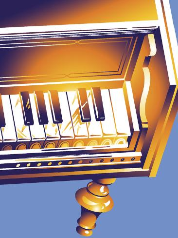 Old Piano Giclee Print