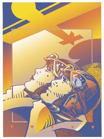Pilots Orange Giclee Print
