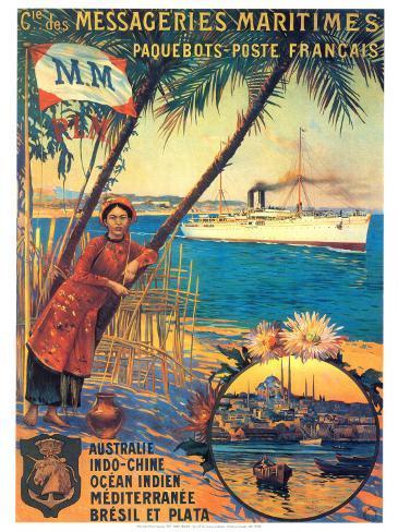 Messageries Maritime Art Print