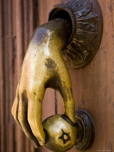 Hand Shaped Door Knocker, San Miquel de Allende, Mexico Photographic Print