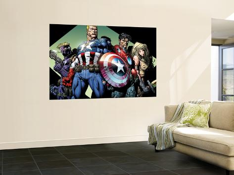 Ultimatum No.3 Group: Captain America, Hawkeye, Iron Man and Valkyrie Wall Mural