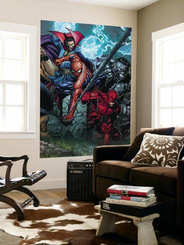 Ultimatum No4 Cover Spider Man Daredevil Dr Strange and Hulk