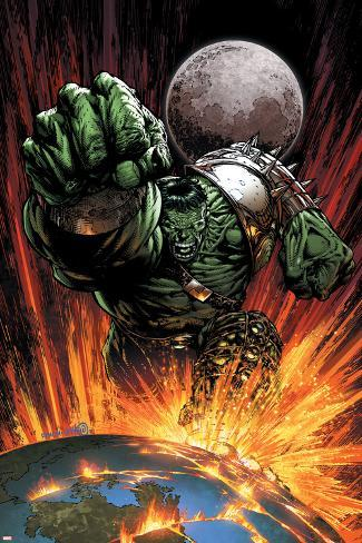 World War Hulk No.1 Cover: Hulk Flying Poster