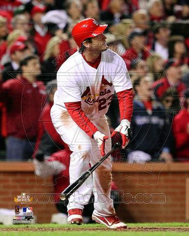 David Freese Game Winning Walk-Off Home Run Game 6 of the 2011 MLB World Series Action (#28) Photo