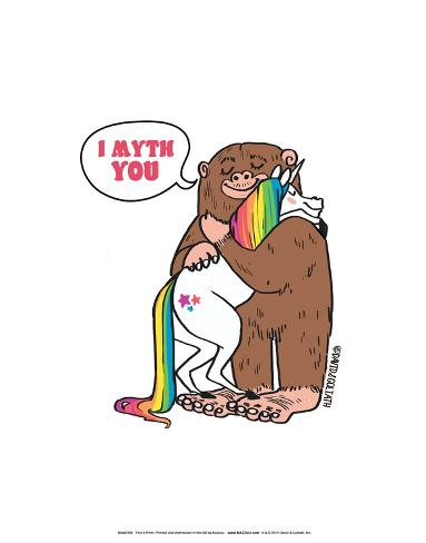 I Myth You - David & Goliath Print Impressão artística