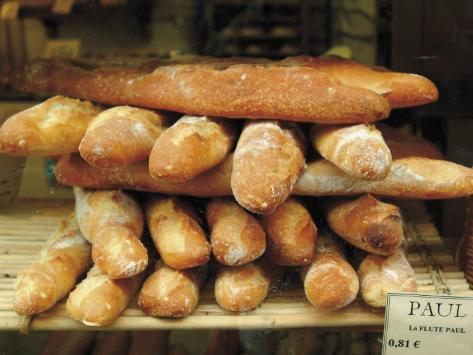 Baguettes in the Window of the Paul Bread Shop, Lille, Flanders, Nord, France Photographic Print