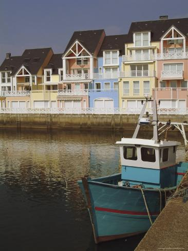 Holiday Flats Overlooking the Port, Deauville, Calvados, Normandy, France Photographic Print