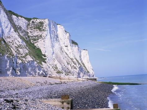 St. Margaret's at Cliffe, White Cliffs of Dover, Kent, England, United Kingdom Photographic Print