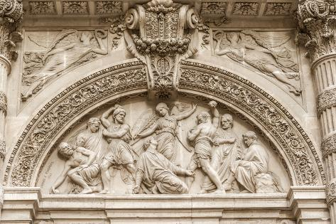 Architectural Detail of Sainte-Genevieve, Paris Photographic Print