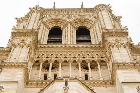 Notre Dame De Paris Facade Detail Photographic Print