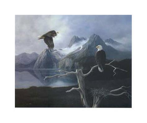Nesting Eagle Framed Art Print