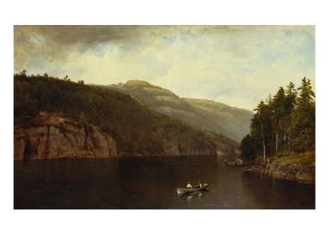 Boating on Lake George, 1870 Giclee Print